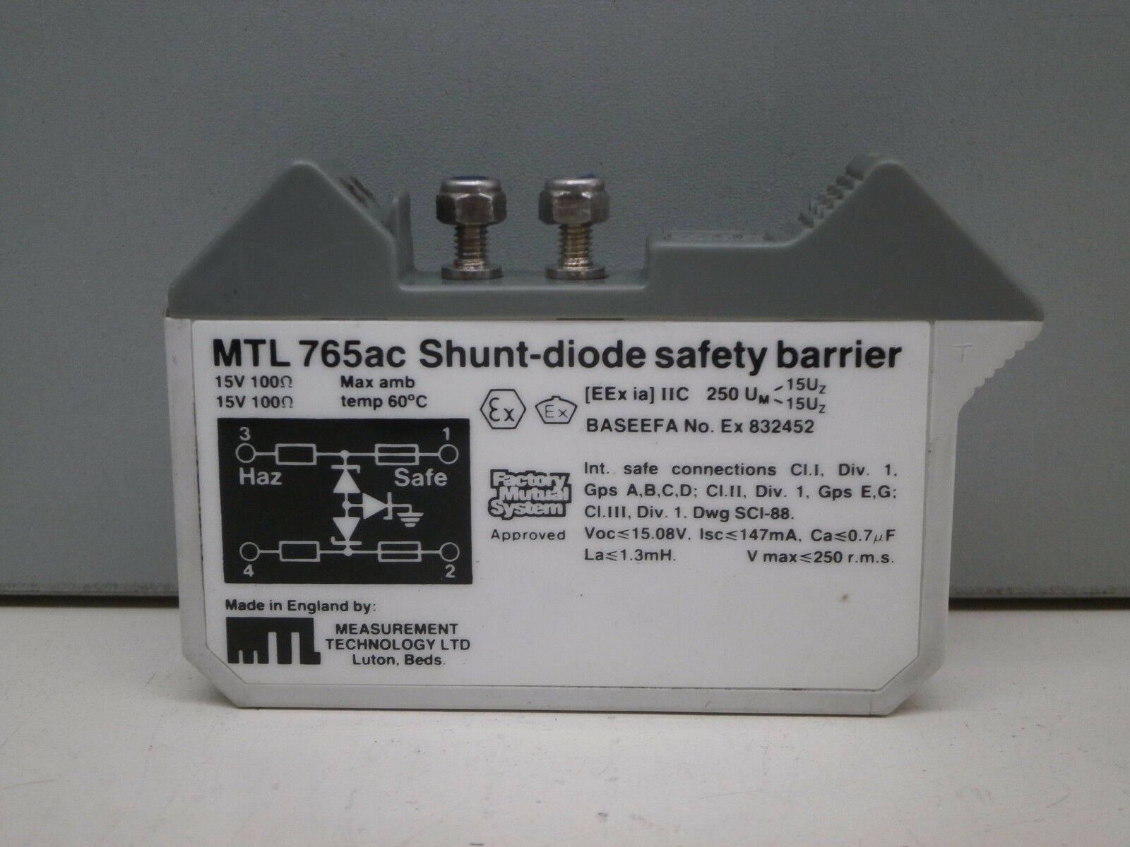 Measurement Technology Mtl 765ac Shunt Diode Safety Barrier 15a Measurements Electronic Norton Secured Powered By Verisign