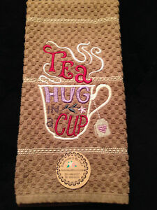 Details about Personalized *Embroidered Monogrammed Tea Hand or Kitchen  Towel Made To Order