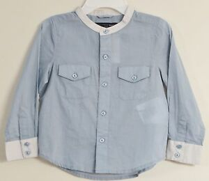 77cb64841be STELLA MCCARTNEY babyGAP Size 2 Years Blue Button-Up Long Sleeve ...