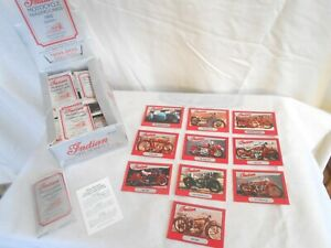 set of 10 1 sealed pack Indian Motorcycle Trading Cards 1992 edition series one