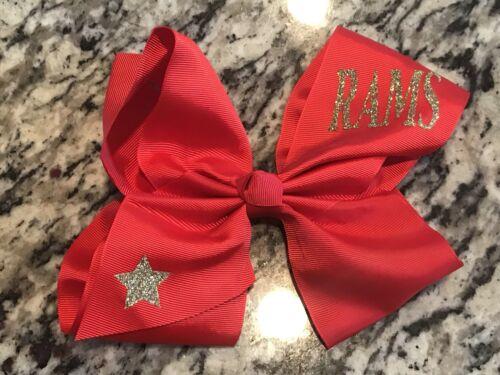 "LARGE 8/"" Grosgrain Hair Bow JOJO Siwa INSPIRED Red Personalized Custom Hairbow"