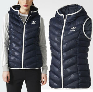 Details zu adidas Originals Womens Slim Vest Hooded Gilet Jacket Sleeveless Camo Bodywarmer