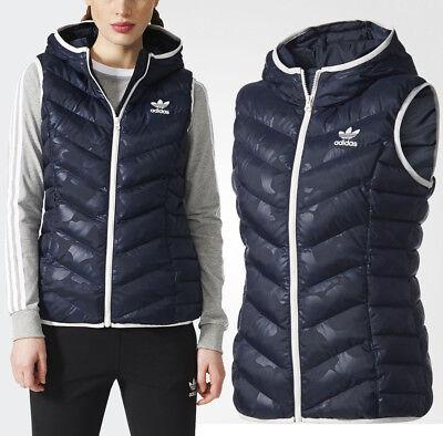 Adidas Originals pour femme Slim gilet sans manches à capuche veste sans manches camouflage veste sans manches | eBay