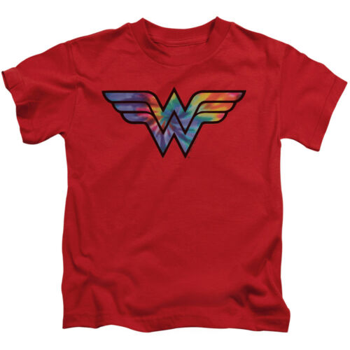 WONDER WOMAN TIE DYE Licensed Toddler Kids Graphic Tee Shirt 2T 3T 4T 4 5-6 7