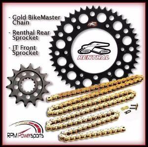 Renthal Black Sprocket and Gold Chain Kit Yamaha YZ450f YZ 450f 98-15 14-48T