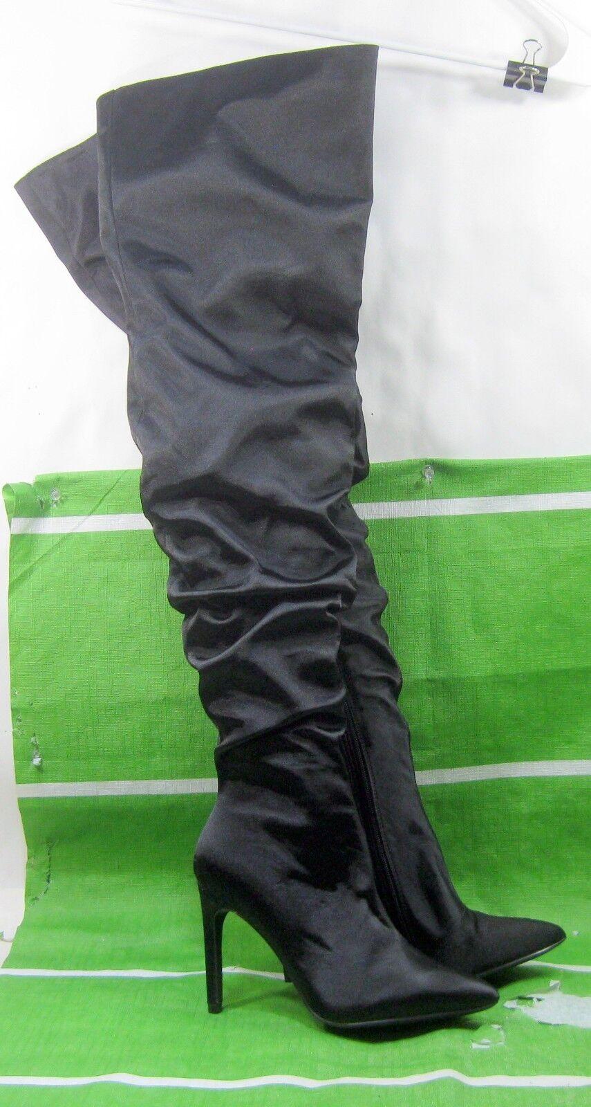 goditi il 50% di sconto NEW LADIES nero 4 Stiletto High Heel Heel Heel Pointy Toe Over Knee Sexy stivali Dimensione 7  vendite online