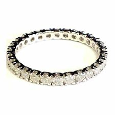 Beautiful 1.00 Carat Round Diamond Full Eternity Ring Crafted in 9k White Gold .
