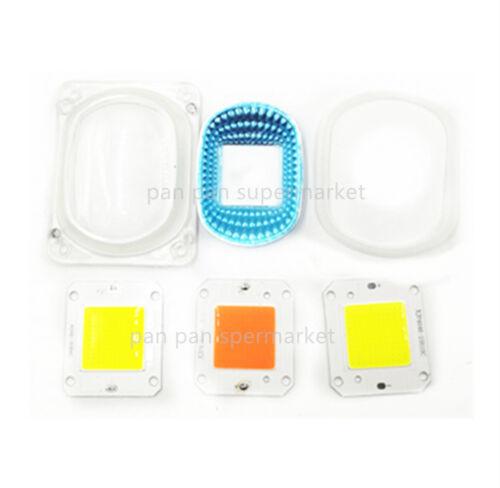 LED COB Grow White Chip+Lens Reflector 50W 12V For  LED Flood Light