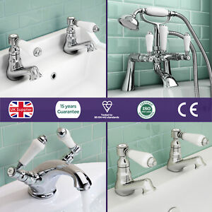 Imperior-Traditional-Victorian-Sink-Basin-Mono-Bath-Filler-Shower-Chrome-Taps