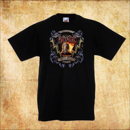BABY//KID//TODDLER BLACK T-Shirt AC DC AC//DC Hells Bells 3 ROCK Unisex TEE
