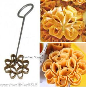Flower Cookie Brass Molds Dok Jok Vintage Thai Traditional Dessert