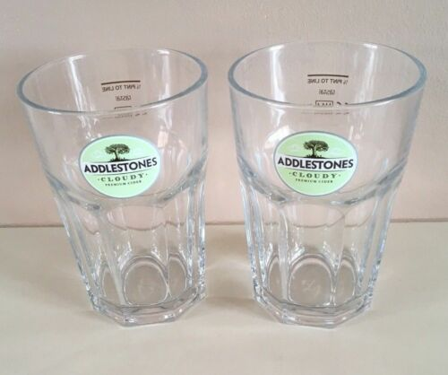 6 X Addlestones Cloudy Cider Very Heavy 1//2 Pint Glasses CE Marked.New /& Unused.