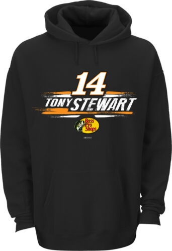 Tony Stewart 2015 Checkered Flag #14 Bass Pro Shops Swoosh Hoodie FREE SHIP!