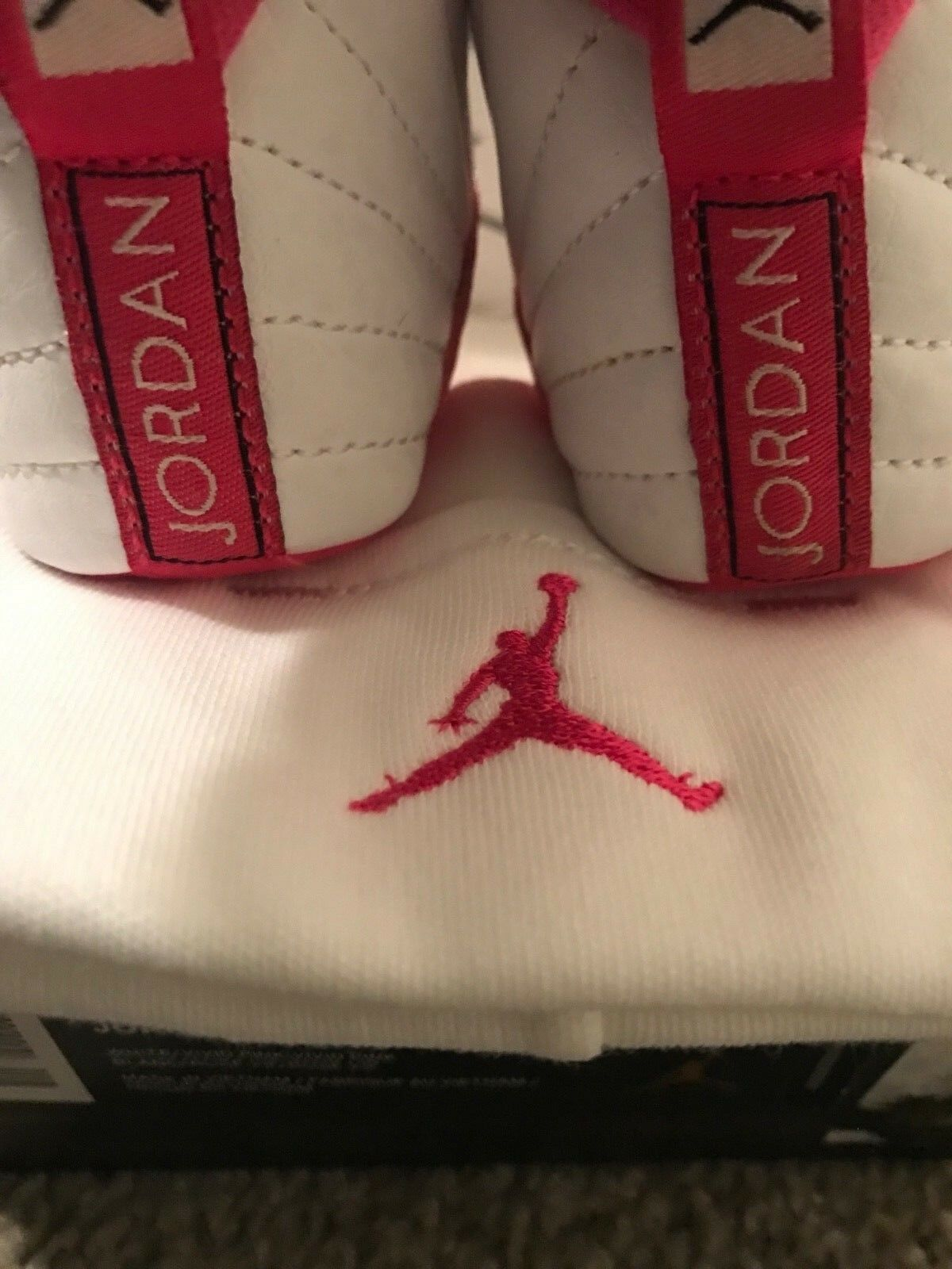 Tennis shoes Baby Jordan's pink and white. Size1c with with with a baby hat. Free Shipping 6e44cc