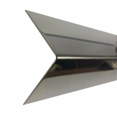 Edelstahl Winkel Spiegel 1000mm 0,8mm stark VA 1.4016 Kantenschutz Deko L-Profil