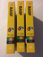 Basf T130 Vhs Video Blank Tapes Lot Of 3 Sealed