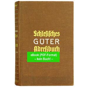 und Oberschlesien 1922 eBook GA014 Güteradressbuch Provinzen Nieder