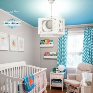 Image Is Loading Baby Nursery Ceiling Light Shade Room Newborn Moon