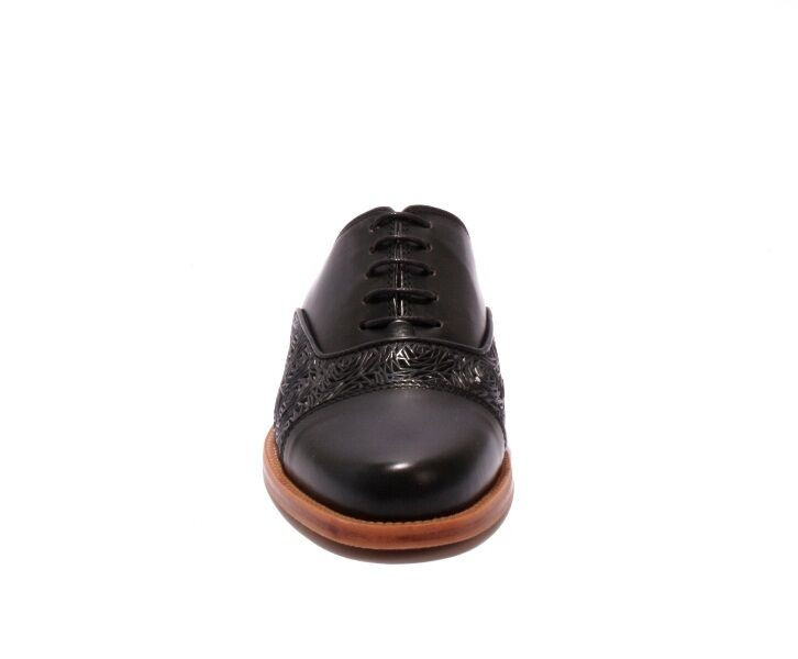 Diego Bellini 4997 nero Leather Leather Leather Lace-Up Sandals scarpe Mules 39.5   US 9.5 1a4b5a