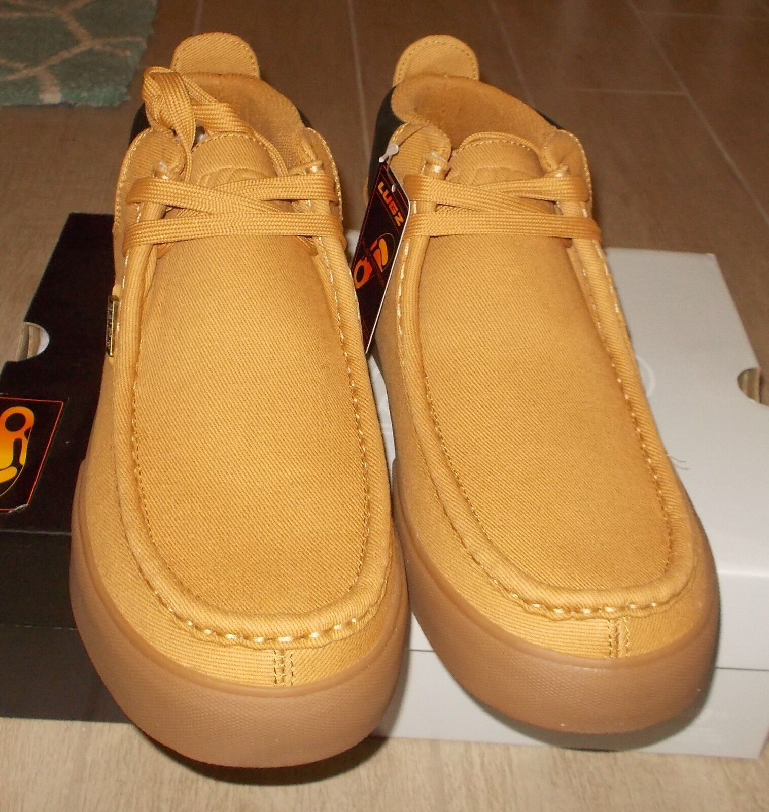 NEW LUGZ STRIDER SS Wallabee Wallaby Stivali Uomo Wheat Gum Gum Wheat NIB c1c579