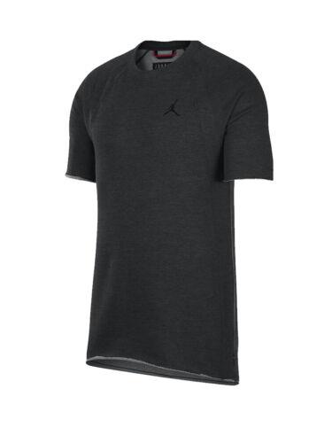 Nike Jordan Lifestyle wins SS Fleece Shirt Soft Terry Black AH4874-032 Mens