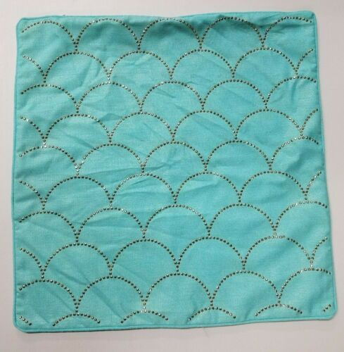"Scallop Designer 20/"" x 20/"" Decorative Pillow Cover with Raised Jewel Design"