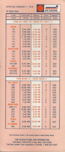save 25/% 5125 Buy 4 Air Sunshine system timetable 2//1//78