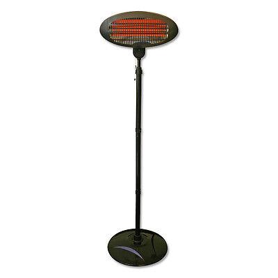 2KW Quartz Free Standing Outdoor Electric Garden Patio Heater