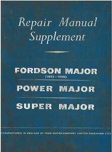 fordson major power major super major tractor repair service rh ebay co uk fordson super major parts manual fordson super major parts manual