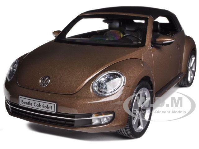 Volkswagen New Beetle Converdeible Toffee marrón 1 18 Auto Modelo Kyosho 08812 Roc