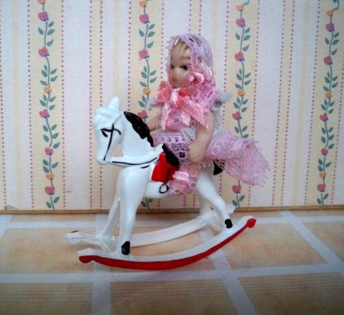 1:12 Maison de poupée Miniature De Cheval à bascule