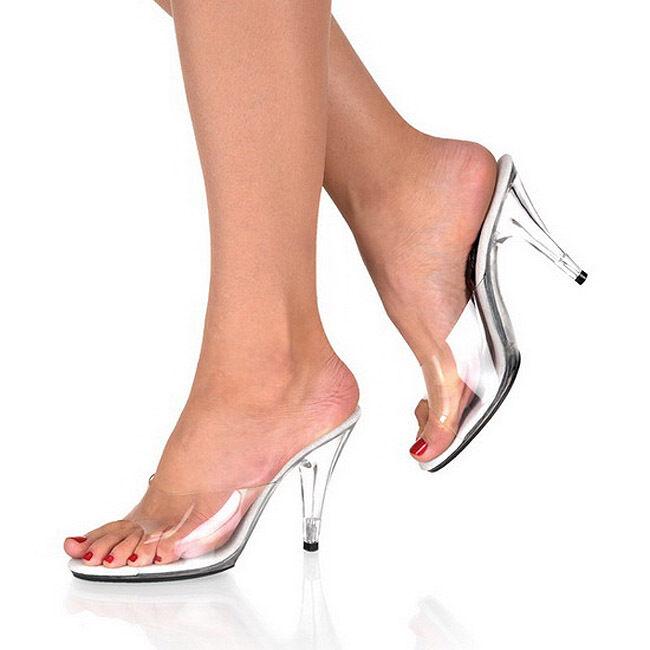 SEXY sandali tacco 10 dal 35 al 43 TRASPARENTE sabot fashion GLAMOUR