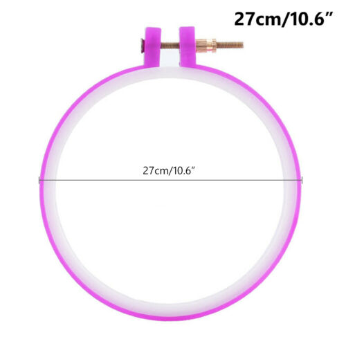 """3-10/"""" plastic embroidery frame hoop ring home diy cross stitch tools sewing 704"""