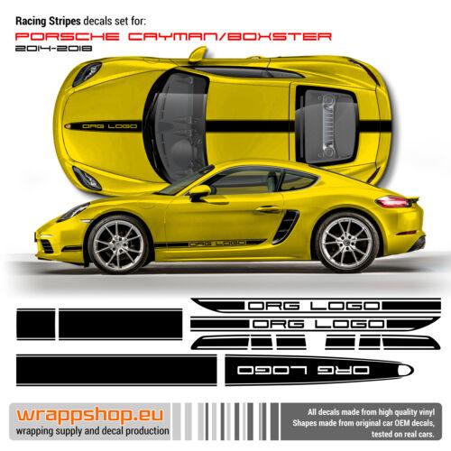 Boxster 2014-2018 Racing Stripes set Design 04 Porsche Cayman