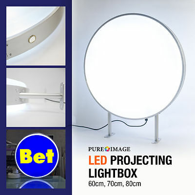 "LED D70cm-28/"" Outdoor Circular Projecting illuminated box"