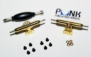 Pro-Shaped-Fingerboard-Trucks-GOLD-32mm-Single-Axle-Lock-Nuts-FREE-GRIP-USA