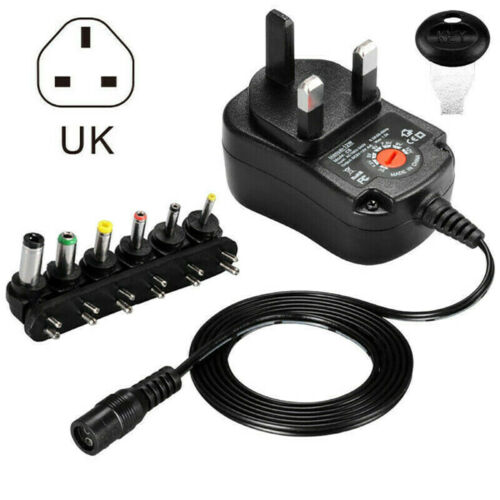 Universal AC DC 3-12V Power Supply Adapter Charger Transformer with 6 Ti HSK