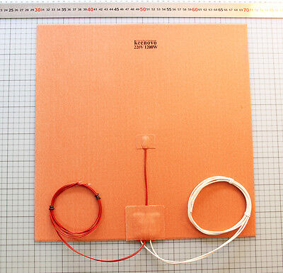 40x40CM 1200W220V Huge Cube 3D Printer Heatedbed Build Plate Silicone Heater Pad