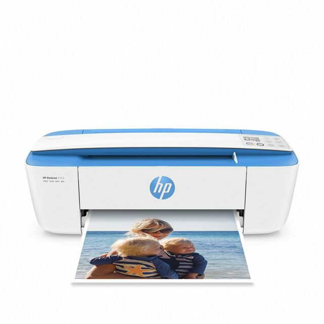 HP DeskJet 3755 Compact All-in-One Wireless Printer with Mobile Printing New