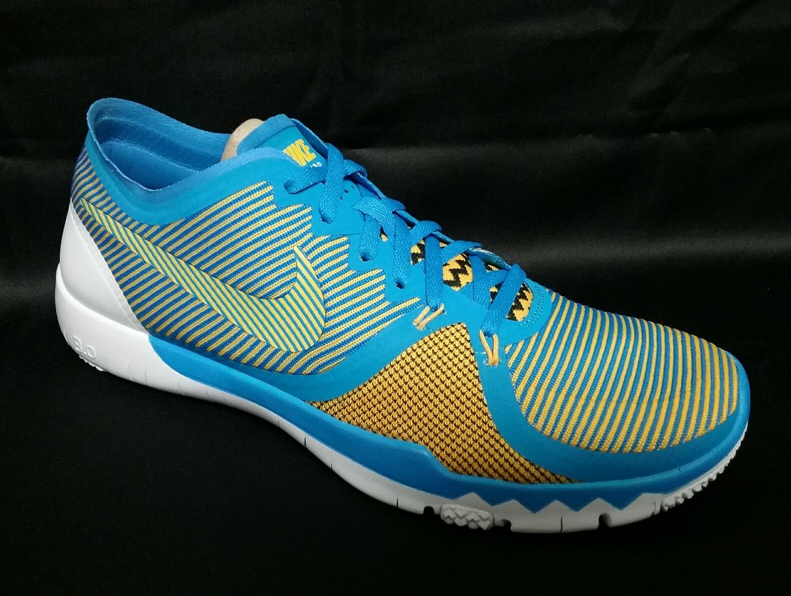 NIKE - 749361-014 - FREE TRAINER 3.0 - Men's Shoes - Blue Gold White - Comfortable Brand discount