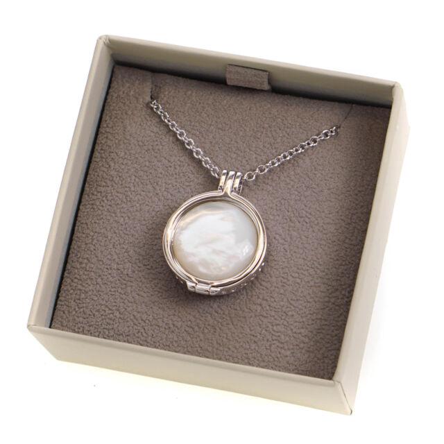 Hot Diamonds Emozioni Day & Night Marrakech Coin Silver Plated Pendant Necklace