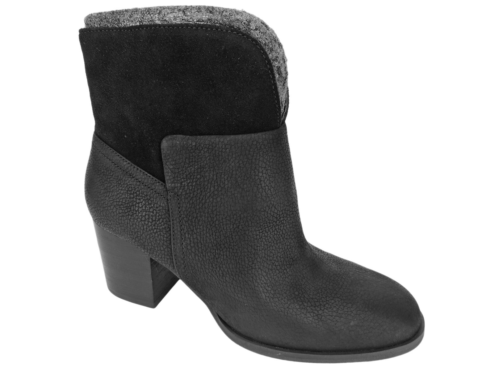 Nine West Women's Dale Block-Heel Booties Black Ankle Boots Size 7.5 M