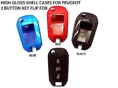 Rouge Housse 100/% /Étui Coque rigide en plastique ABS de haute qualit/é avec finition brillante porte-cl/és Protecteur Case Cover pour nouvelle Peugeot 2013/2014/2015/2016/208/508/mod/èles 2008/