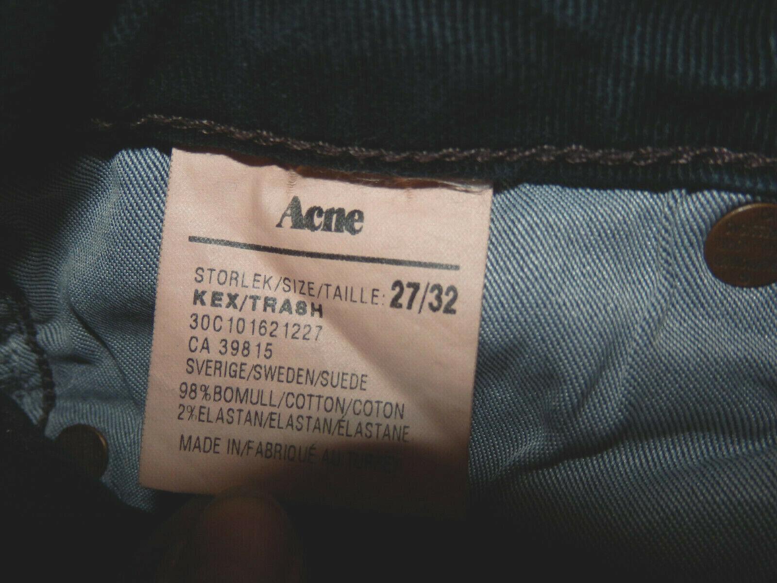 ACNE - Röhrenjeans - KEX TRASH - - - MARINE - t. 27 32 d.h. 37fr - authentisch a56949