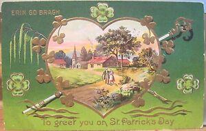 Irish postcard erin go bragh to greet you on st patricks day heart image is loading irish postcard erin go bragh to greet you m4hsunfo
