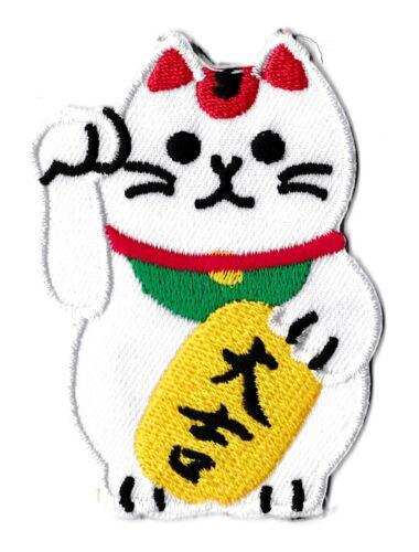 Écusson patche chat chinois chance patch décoratif vêtements thermocollant