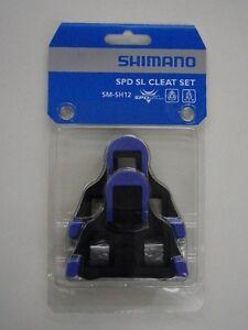 fa0b8c8dc Shimano SM-SH12 SPD-SL Cleat Set BLUE   BLACK FRONT CENTER PIVOT ...