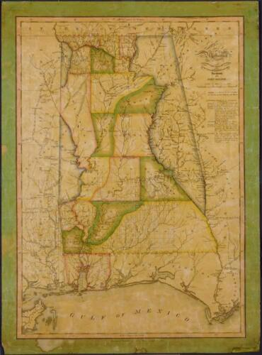 """18/"""" x 24/"""" 1820 Map Of Alabama"""