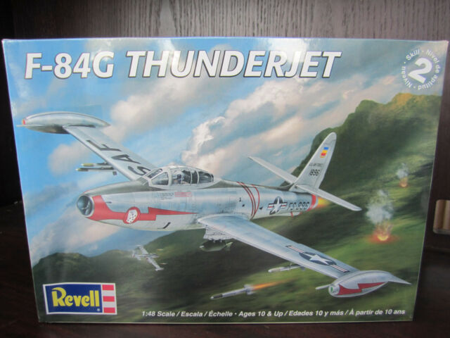 revell 1 48 f 84g thunderjet airplane plastic model kit 5481 ebay