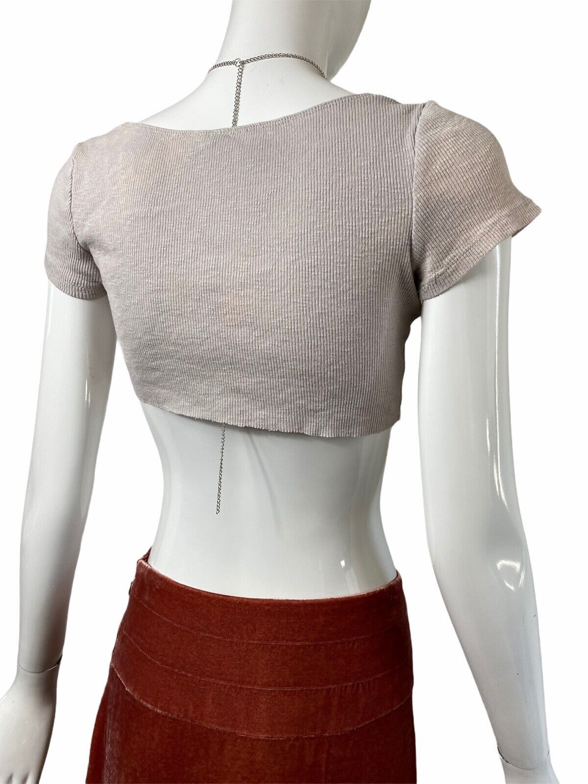 Fairycore Grunge Ribbed Crop Top Y2k 90s Aesthetic - image 5